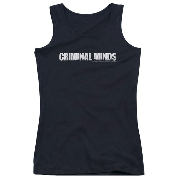 Criminal Minds Logo - Juniors Tank Top - Black