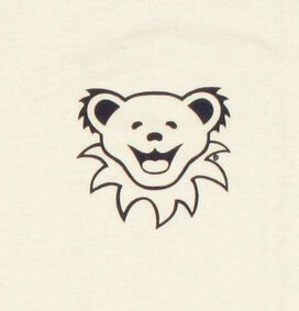 Grateful Dead Bear Head White Youth T-Shirt