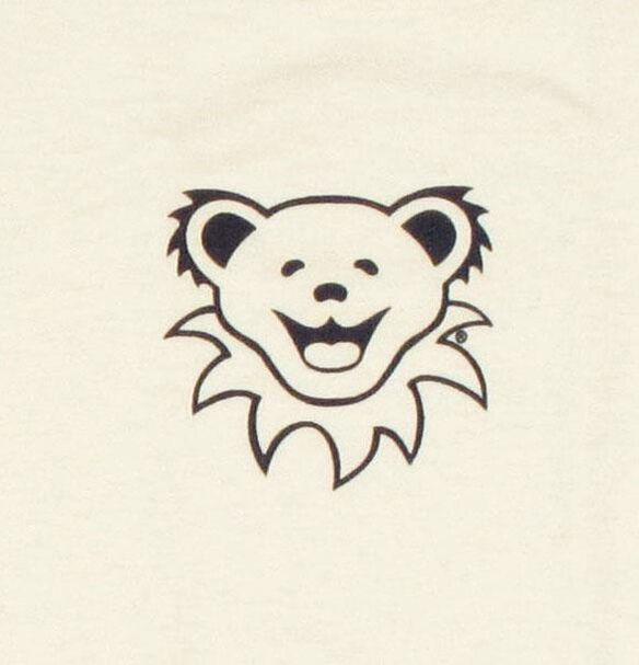 Grateful Dead Bear Head White Youth T Shirt Md Fye