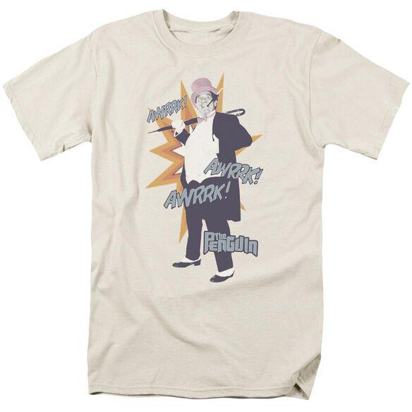 Batman Classic Tv Penguin Short Sleeve Adult Cream T-Shirt