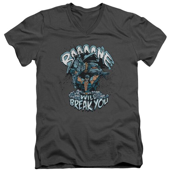 Batman Bane Will Break You Short Sleeve Adult V Neck T-Shirt