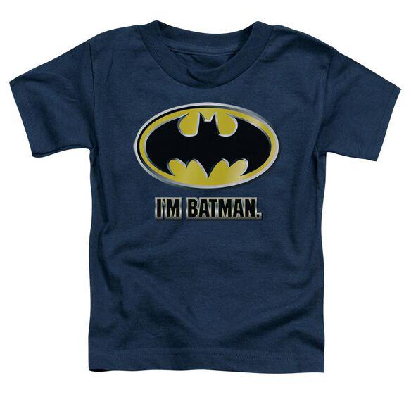 Batman I'm Batman Short Sleeve Toddler Tee Navy Lg T-Shirt