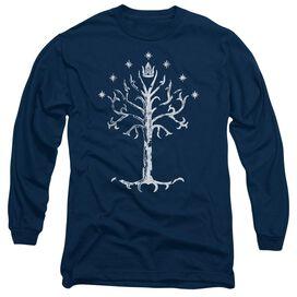 LOR TREE OF GONDOR - L/S ADULT 18/1 - NAVY T-Shirt