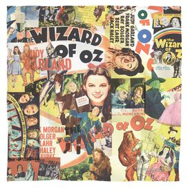 Wizard Of Oz Collage Poly 22 X22 Bandana White