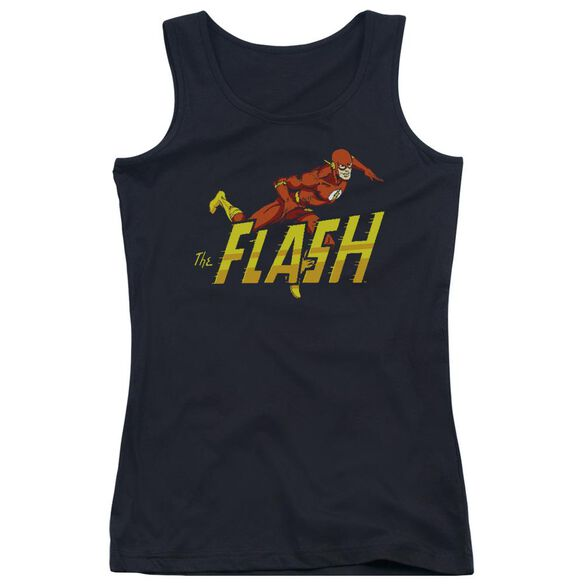 Dc Flash 8 Bit Flash - Juniors Tank Top - Black