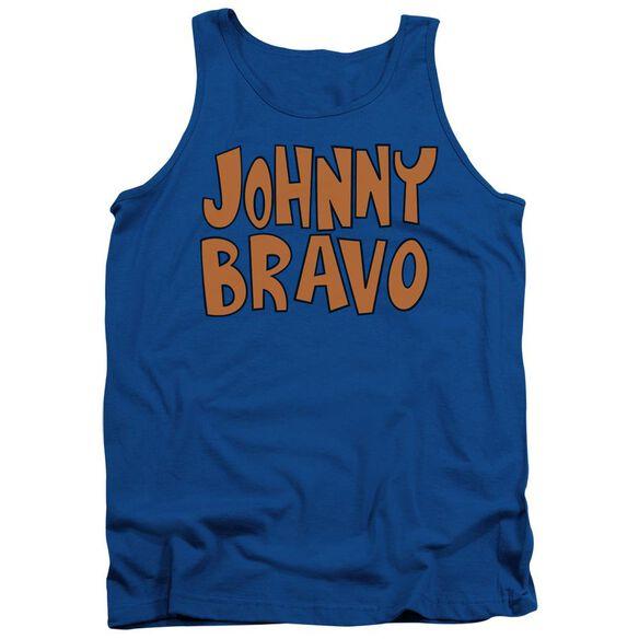 Johnny Bravo Jb Logo Adult Tank Royal