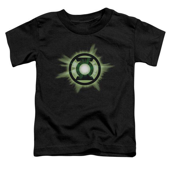 Green Lantern Green Glow Short Sleeve Toddler Tee Black Sm T-Shirt