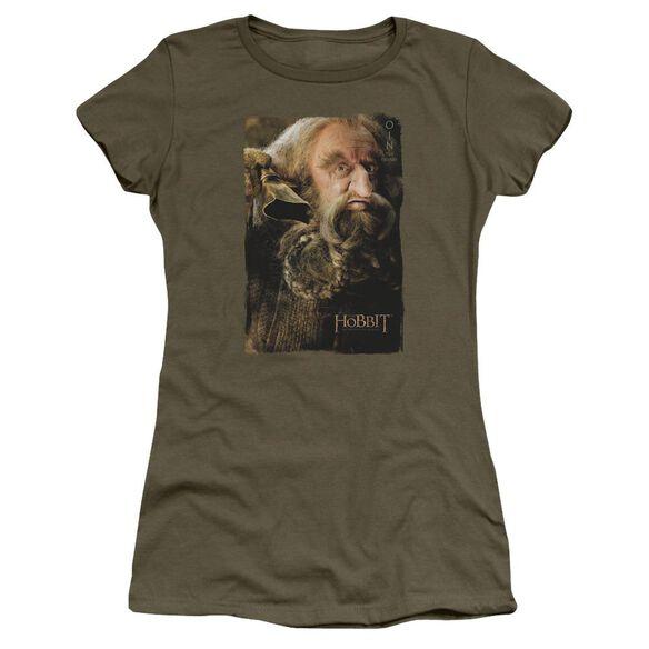 The Hobbit Oin Short Sleeve Junior Sheer Military T-Shirt