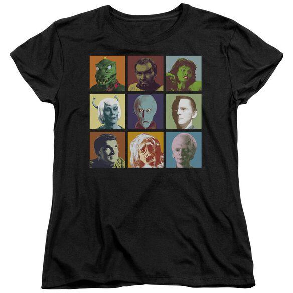 Star Trek Alien Squares Short Sleeve Womens Tee T-Shirt