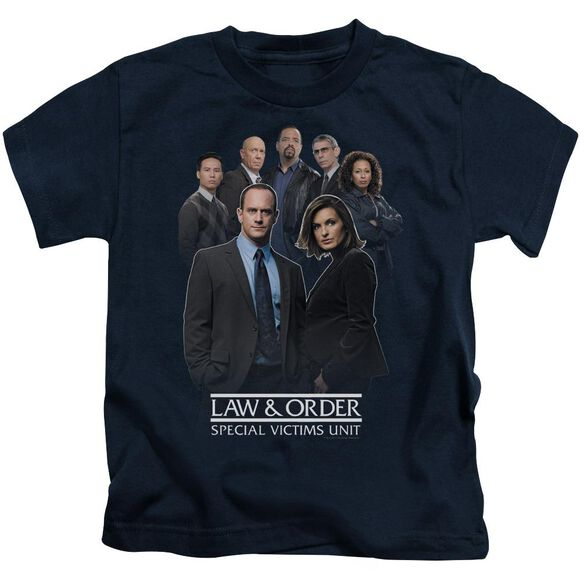 Law And Order Svu Team Short Sleeve Juvenile Navy T-Shirt