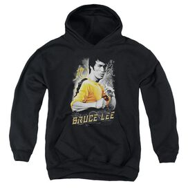 Bruce Lee Yellow Dragon-youth Pull-over Hoodie - Black