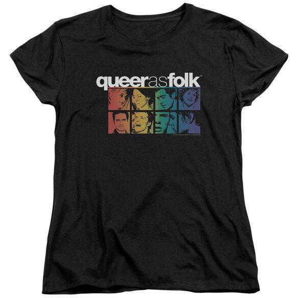 Queer As Folk Cast Short Sleeve Womens Tee T-Shirt