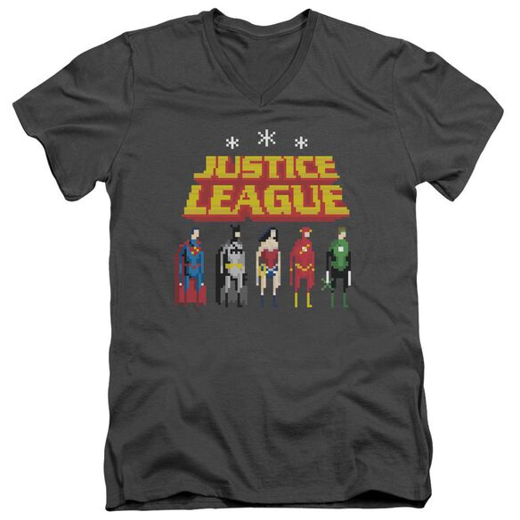 Jla Standing Below Short Sleeve Adult V Neck T-Shirt