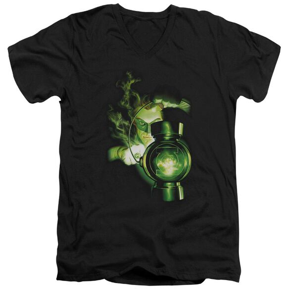 Green Lantern Lantern Light Short Sleeve Adult V Neck T-Shirt