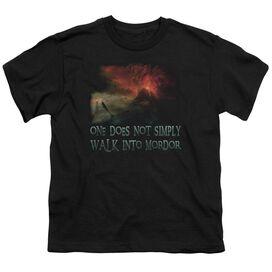 Lor Walk In Mordor Short Sleeve Youth T-Shirt
