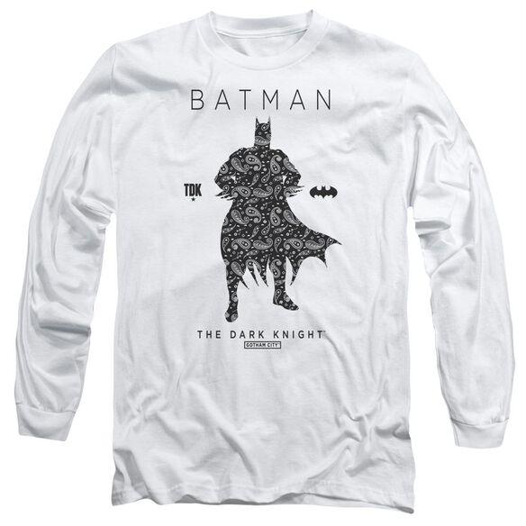 Batman Paislety Silhouette Long Sleeve Adult T-Shirt