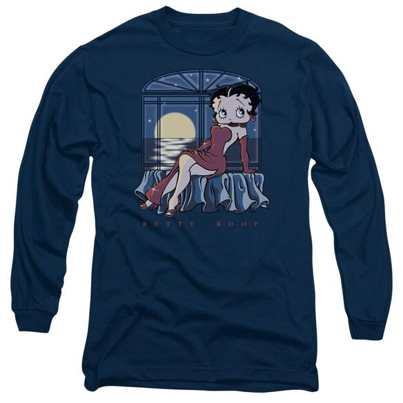Betty Boop Moonlight Long Sleeve Adult T-Shirt