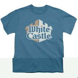 WHITE CASTLE TORN LOGO - S/S YOUTH 18/1 - SLATE T-Shirt