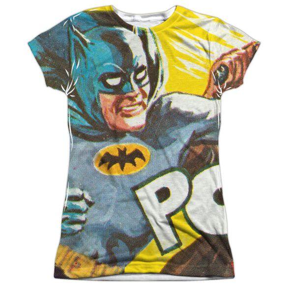 Batman Classic Tv On The Chin Short Sleeve Junior Poly Crew T-Shirt