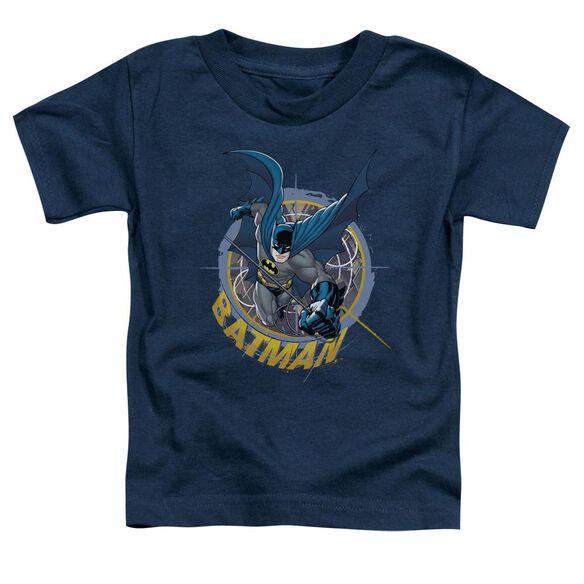 Batman In The Crosshairs Short Sleeve Toddler Tee Navy Md T-Shirt