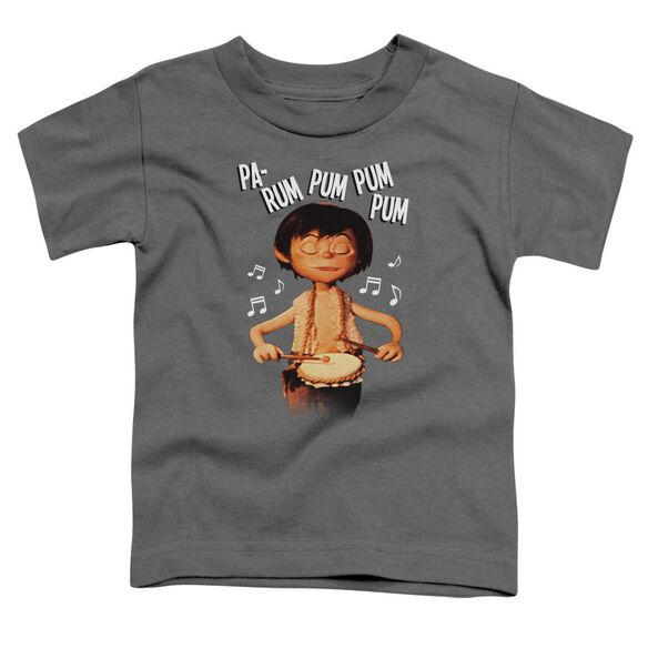 Little Drummer Boy Drum Beat Short Sleeve Toddler Tee Charcoal T-Shirt