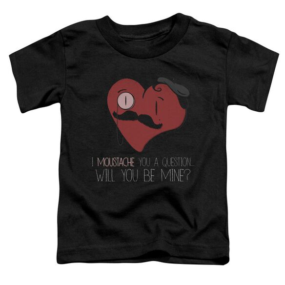 Popping The Question Short Sleeve Toddler Tee Black Sm T-Shirt