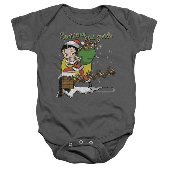 Betty Boop Chimney Infant Snapsuit Charcoal