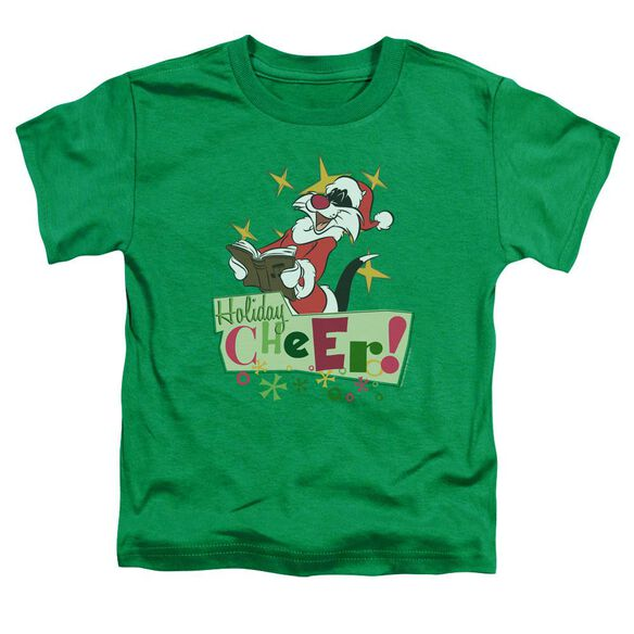 Looney Tunes Cheer Sylvester Short Sleeve Toddler Tee Kelly Green T-Shirt