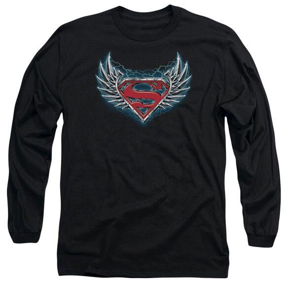 SUPERMAN STEEL WINGS LOGO-L/S T-Shirt