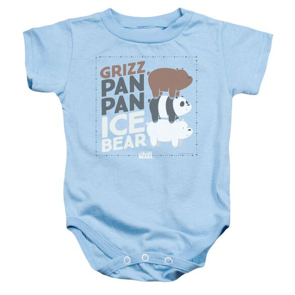 We Bare Bears Grizz Pan Pan Ice Bear Infant Snapsuit Light Blue