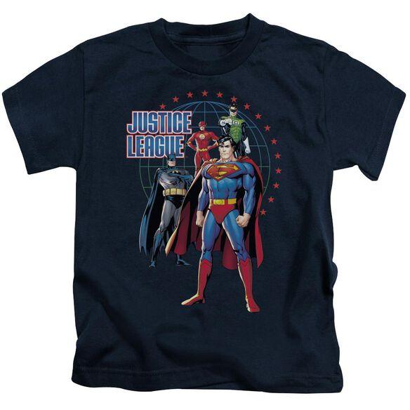 Jla Protectors Short Sleeve Juvenile Navy T-Shirt