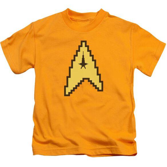 Star Trek 8 Bit Command Short Sleeve Juvenile Gold T-Shirt
