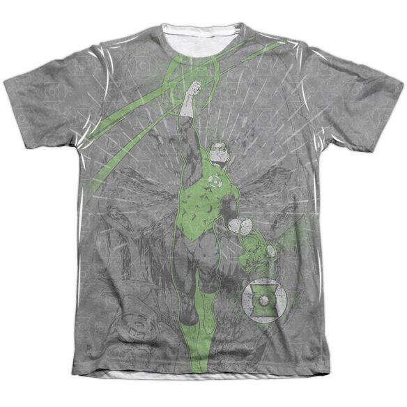Green Lantern Vanquish Evil Adult 65 35 Poly Cotton Short Sleeve Tee T-Shirt