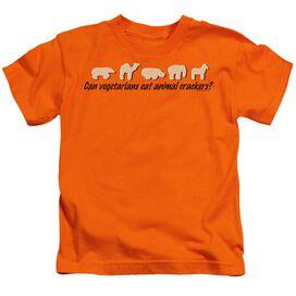 Animal Crackers Short Sleeve Juvenile Orange T-Shirt