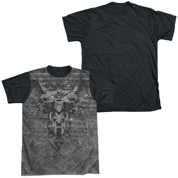 Batman Ride Free Short Sleeve Adult Front Black Back T-Shirt