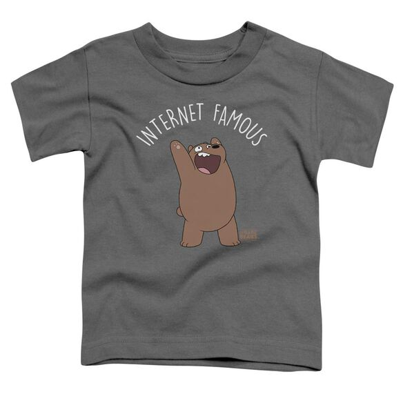 We Bare Bears Internet Famous Short Sleeve Toddler Tee Charcoal T-Shirt