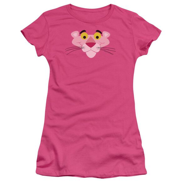 Panther Face Short Sleeve Junior Sheer Hot T-Shirt