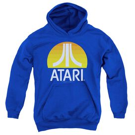 Atari Sunrise Clean Youth Pull Over Hoodie Royal