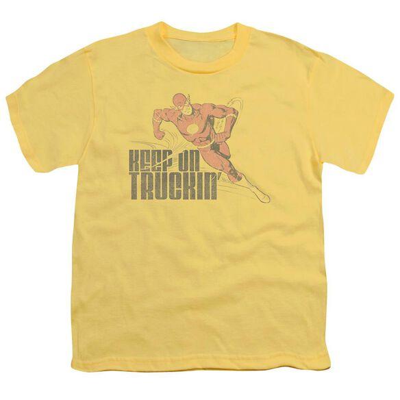 Dc Flash Keep On Truckin Short Sleeve Youth T-Shirt