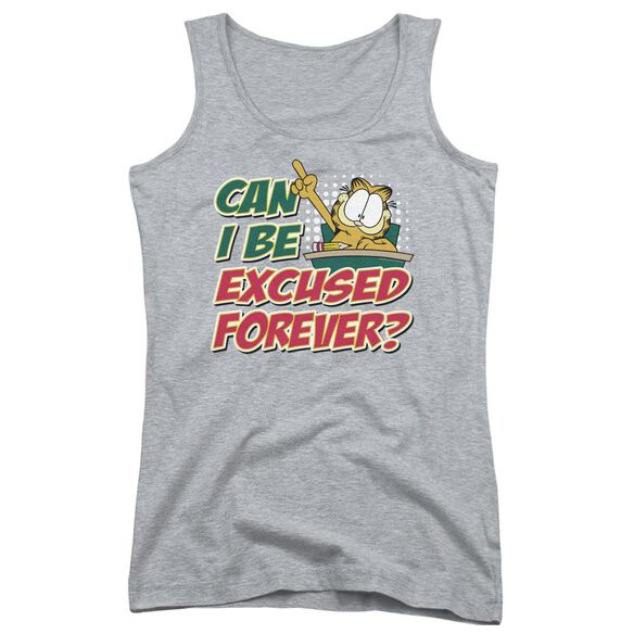 Garfield Excused Forever Juniors Tank Top Athletic