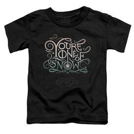 Fantastic Beasts One Of Us Short Sleeve Toddler Tee Black T-Shirt