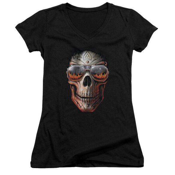 Anne Stokes Hellfire Junior V Neck T-Shirt