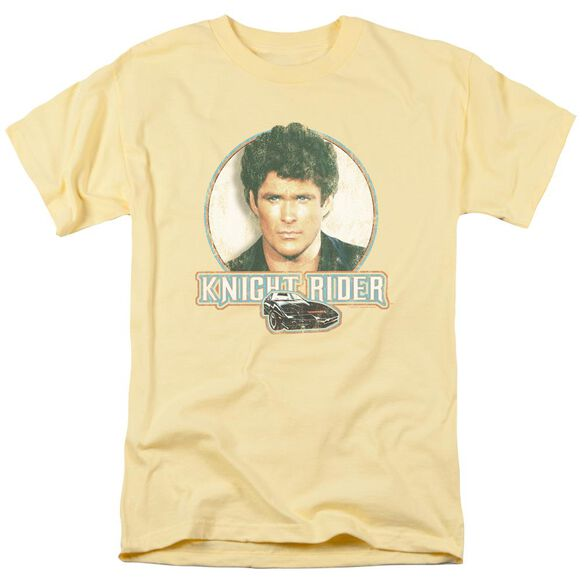 Knight Rider Vintage Short Sleeve Adult Banana T-Shirt
