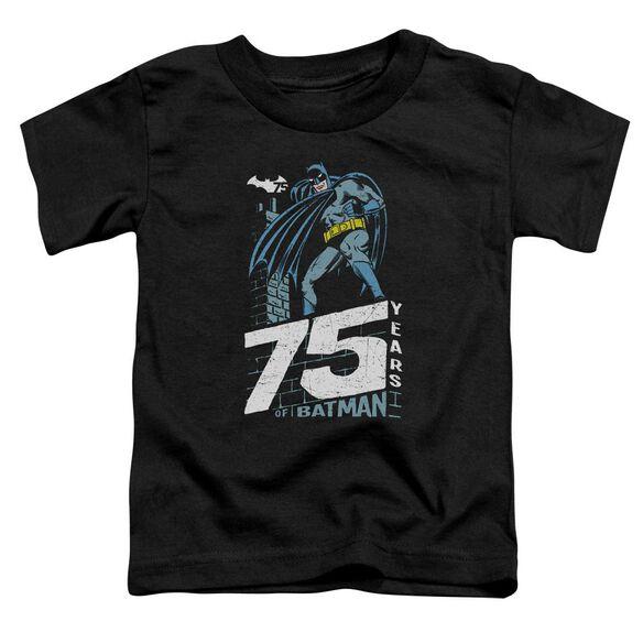 Batman Rooftop Short Sleeve Toddler Tee Black T-Shirt