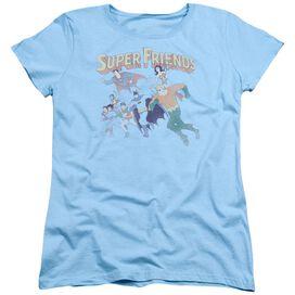 Dc Super Friends Short Sleeve Womens Tee Light T-Shirt