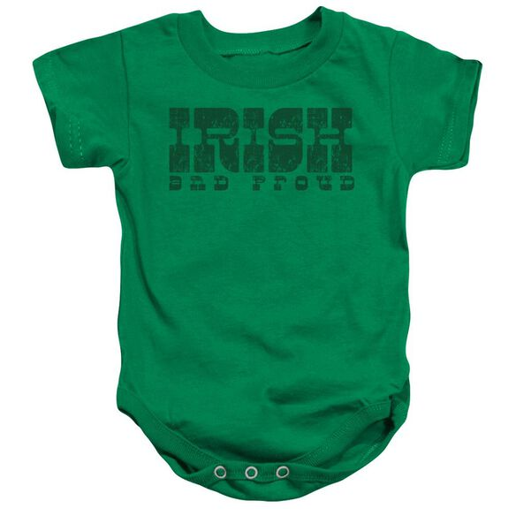 Irish And Proud-infant Snapsuit-kelly