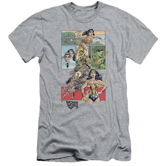 Wonder Woman Ww75 Comic Page Short Sleeve Adult Athletic T-Shirt