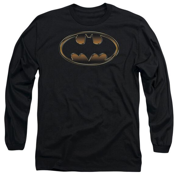 Batman & Gold Embossed Long Sleeve Adult T-Shirt
