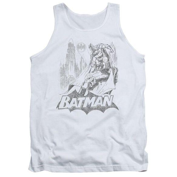 Batman Bat Sketch Adult Tank