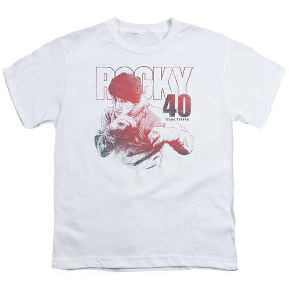 Rocky 40 Years Strong Short Sleeve Youth T-Shirt